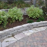 Bioscapes - Howell Res.  calico wall, calico flag, victorian pavers