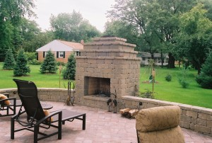 stonegate country manor fireplace and wall